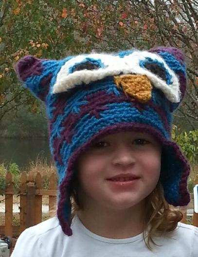 Crochet Pattern Owl Hat Hook Yarn And Scissors